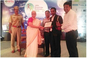 Mr. Mohammad Tarik - Our Director & Chief Business Officer - Awarded by – Smt. Mridula Sinha (Honorable Goa Governor)